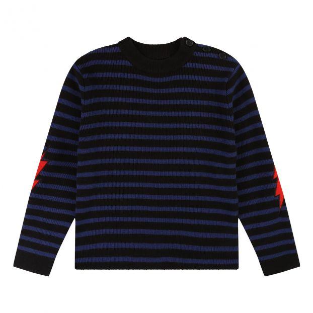 premium selection e2948 5929f Maglione di Lana Cachemire Cuscinetti del gomito Blu marino
