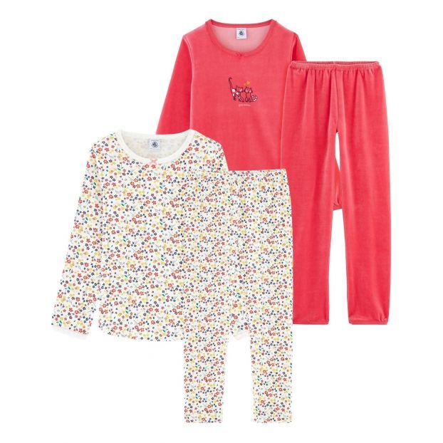 654827ad67614 CoqueChat Velour Pyjama Set - 2-pieces Pink Petit Bateau Fashion