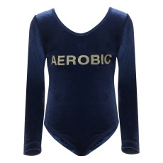 "product-Hundred Pieces ""Aerobic"" velour bodysuit"
