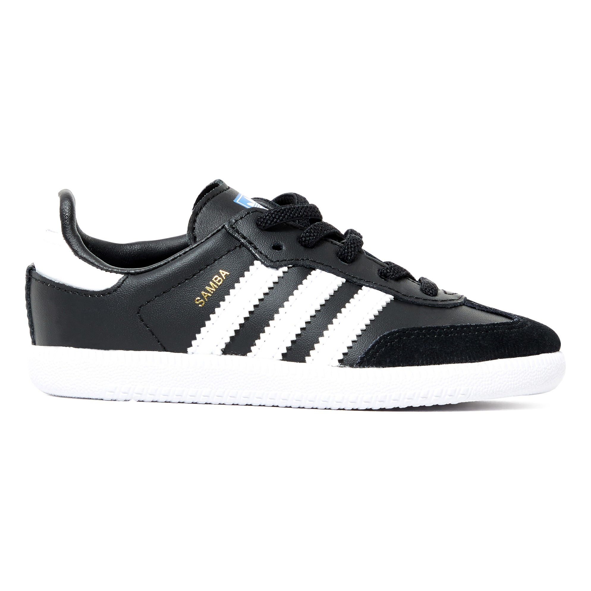 Samba Leather Trainers with Laces Black