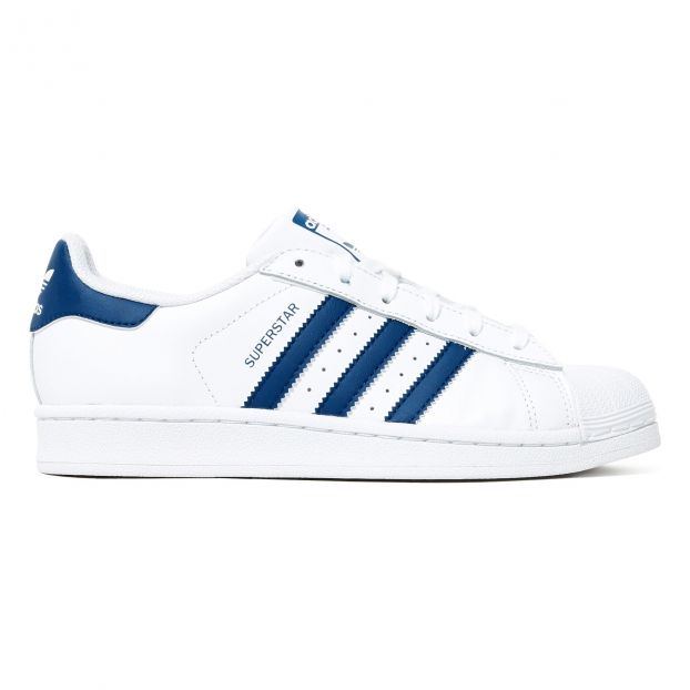 Superstar Leather Trainers with Laces Blau