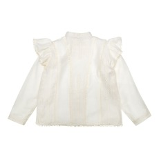product-the new society Amila Buttoned Back Embroidered Blouse