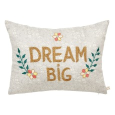 product-CSAO Dream Big Liberty Print Embroidered Cushion - CSAO x Smallable