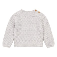 product-Lab - La Petite Collection Waffled Cotton & Merino Wool Jumper