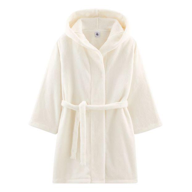 Robes De Chambre Capuche Polaire Blanc