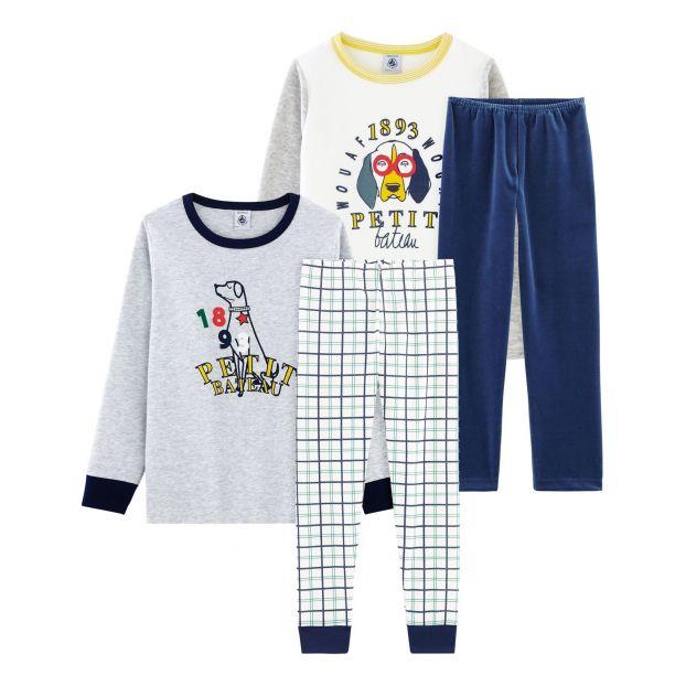 43fee0a6c5cd4 Courreaux Pyjama Set - 2-pieces Grey Petit Bateau Fashion