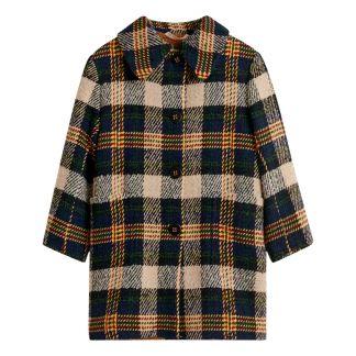 c505ad70f5 Cappotto di lana a quadratini imbottito Craft Blu marino