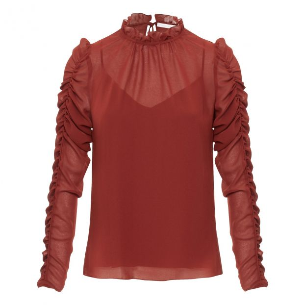 f5b8f942a8a139 Fronces Blouse Red See by Chloé Fashion Adult