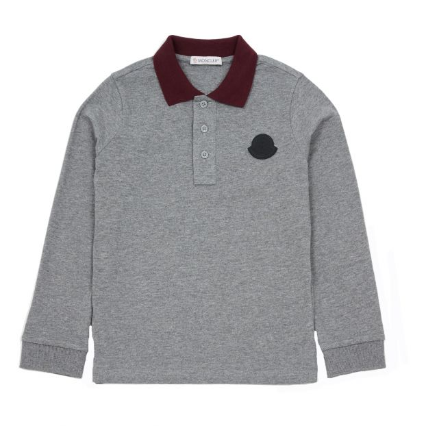 d1e062f5 Manica Long Sleeve Polo Shirt Grey Moncler Fashion Teen ,