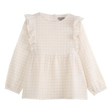product-Emile et Ida Checkered Lurex Blouse  - Women's Collection -