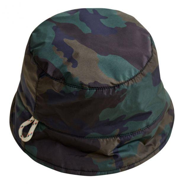 ee86e3cf Bellerose. Hani Camouflage Faux Fur Line Reversible Bucket Hat ...