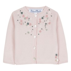 product-Tartine et Chocolat Embroidered Wool Cardigan