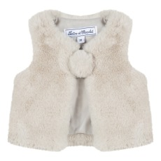 product-Tartine et Chocolat Faux Fur Baby Cardigan