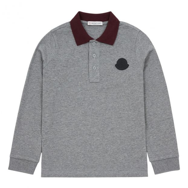 418046e84 Manica Long Sleeve Polo Shirt Grey