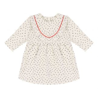 9fb554de269340 Fleece-Kleid mit Punkten Seidenfarben
