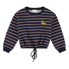 product-Simple Kids Striped Bow Sweatshirt