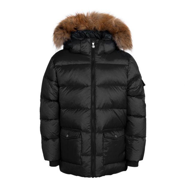8624b04693a Mat Authentic fur down jacket Black