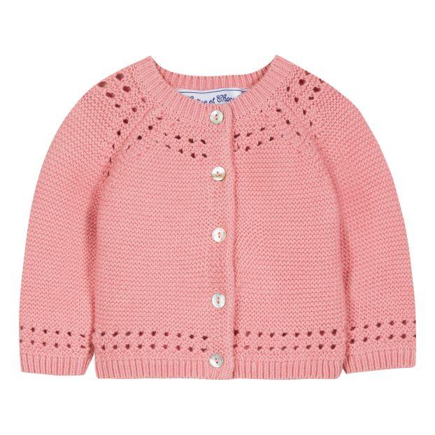 1c18c13108a Cotton Cashmere Cardigan Pink