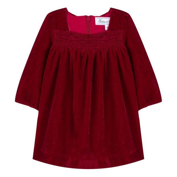 wholesale dealer 2f789 3573b Abito Velluto bébé Rosso