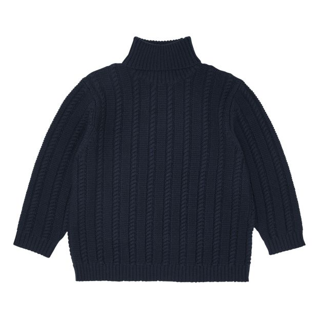 check-out 2deb3 20472 Pull Laine Col Roulé Oversize Navy blue