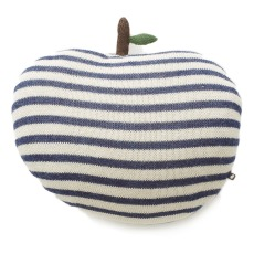 product-Oeuf NYC Striped Apple-shaped Alpaca Wool Cushion