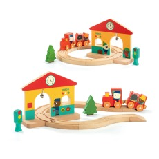 product-Djeco Magnetic Wooden Mini Train Circuit