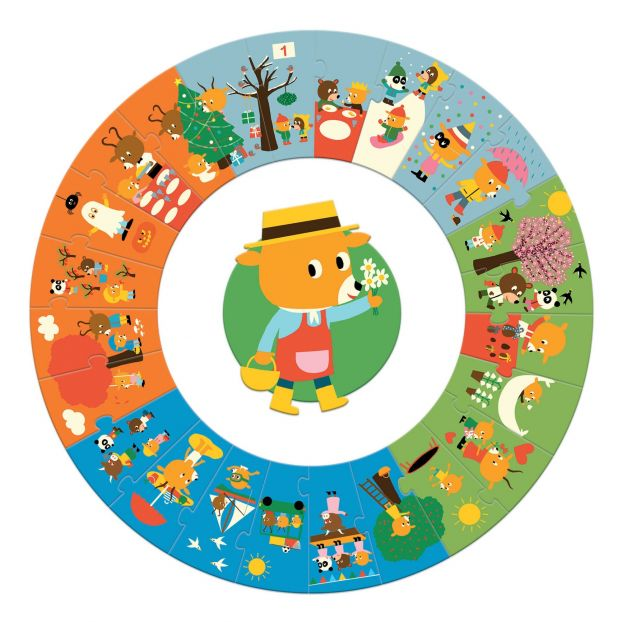 The Four Seasons Giant Puzzle - 24 Pieces