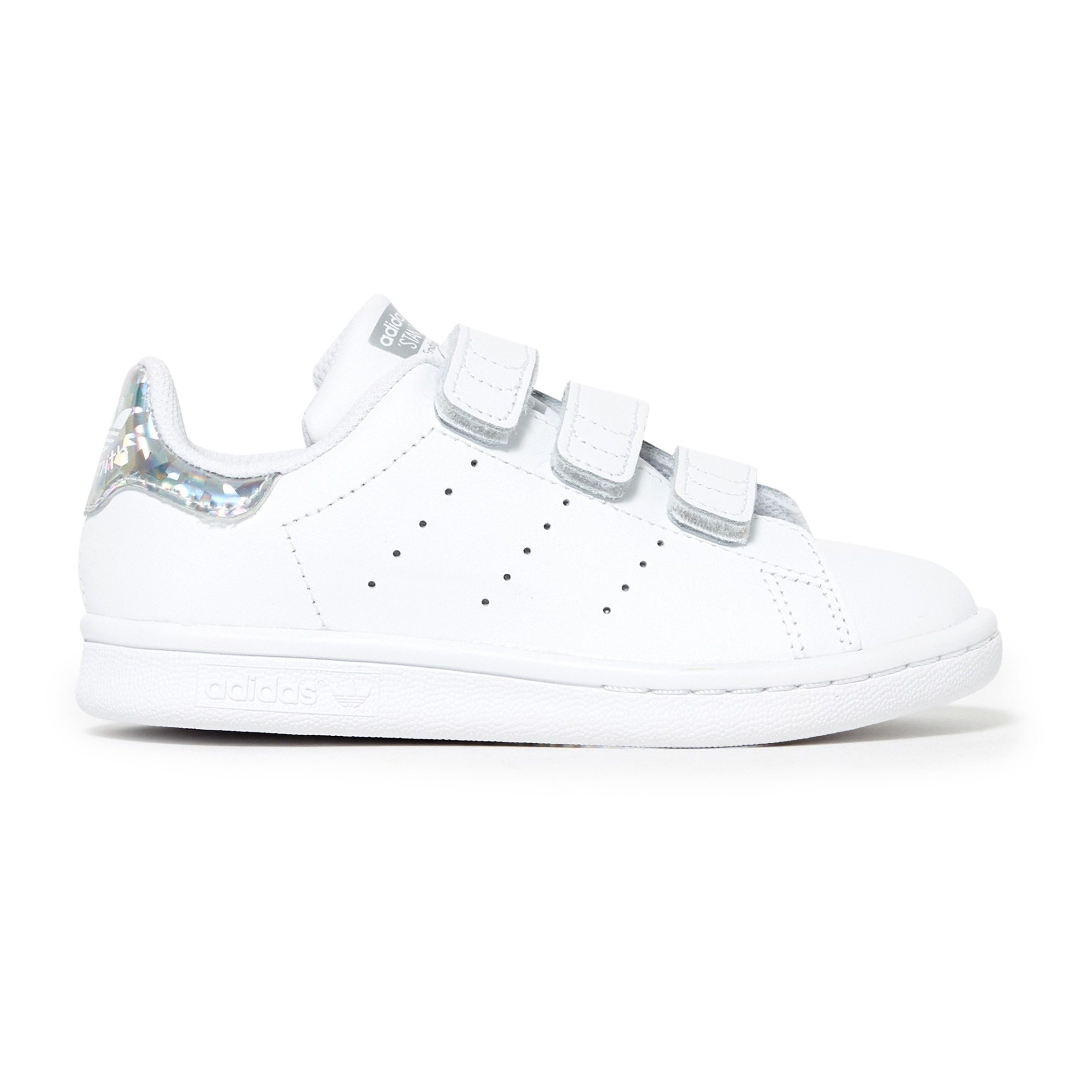 Stan Smith 3 Velcro Trainers Silver