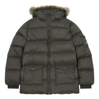 0d35b28c7 Authentic Matte Faux Fur Lined Down Jacket Khaki