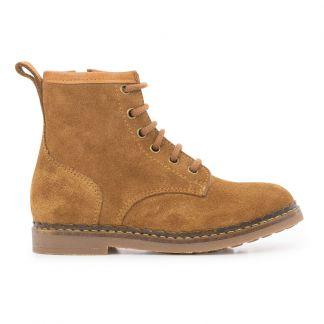 Beau R studio Camel Boots fourrées à lacets Femme Chaussures