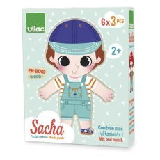 product-Vilac Sacha Gets Dressed Wooden Puzzle