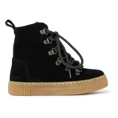 product-Angulus Lace up Furry Boots