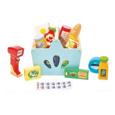 product-Le Toy Van Shopping Basket and Grocery Store Toy Set