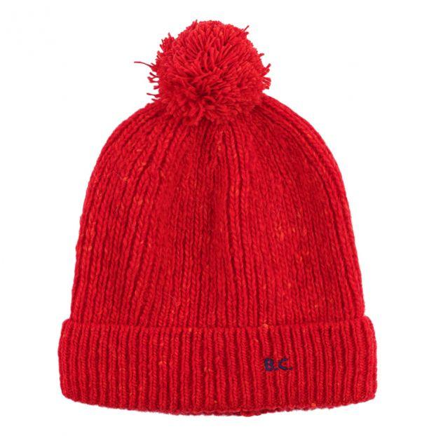 85ff19da4 Pompom Beanie Hat Red