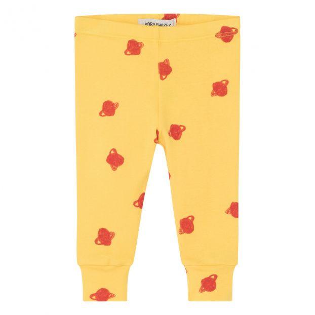 Comet Organic Cotton Baby Leggings Yellow Bobo Choses Fashion