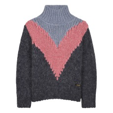 product-Finger in the nose Vanity Oversized Soft Colourblock Jumper