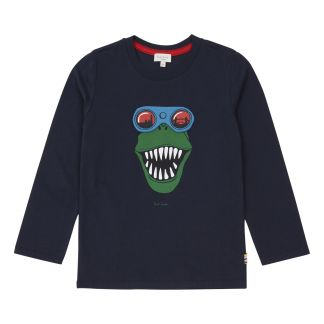 Glasses Dinosaur T-Shirt Navy blue