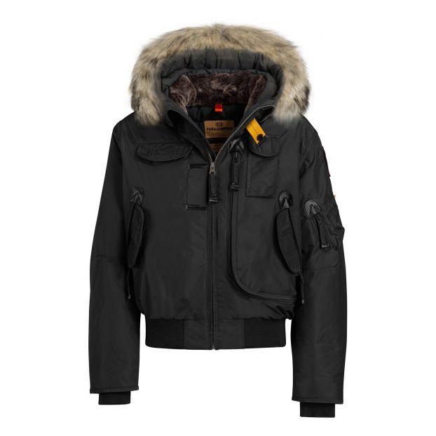 a802a1025 Faux Fur Hooded Gobi Boy Bomber Jacket Black