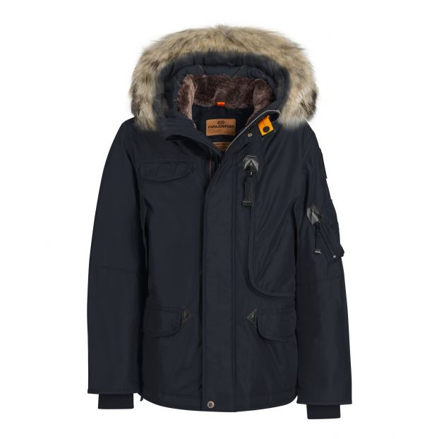 Faux Fur Right Hand Hooded Parka Navy Blue by Smallable