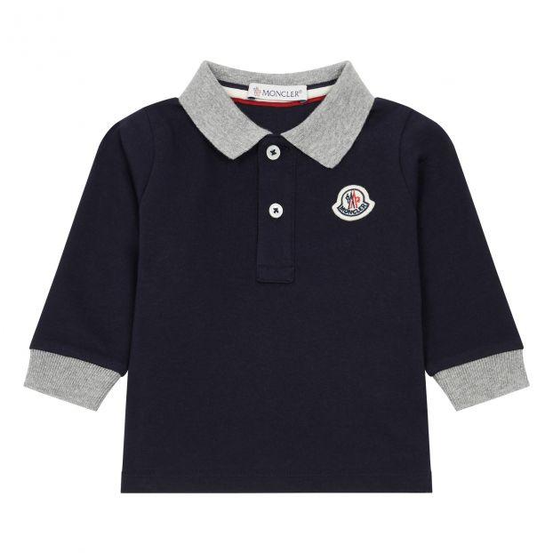 7557c0e80 Lunga Long Sleeve Polo Shirt Black