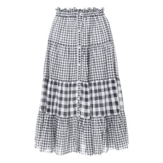 product-The Great The Button Up Tier Skirt