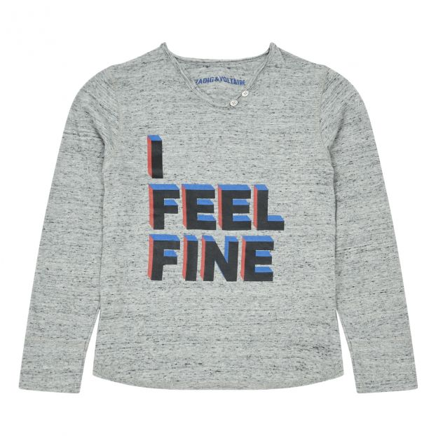 ZADIG/&VOLTAIRE T-Shirt col Tunisien Bambina