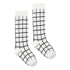 product-Rylee + Cru Check Ribbed Knit Socks