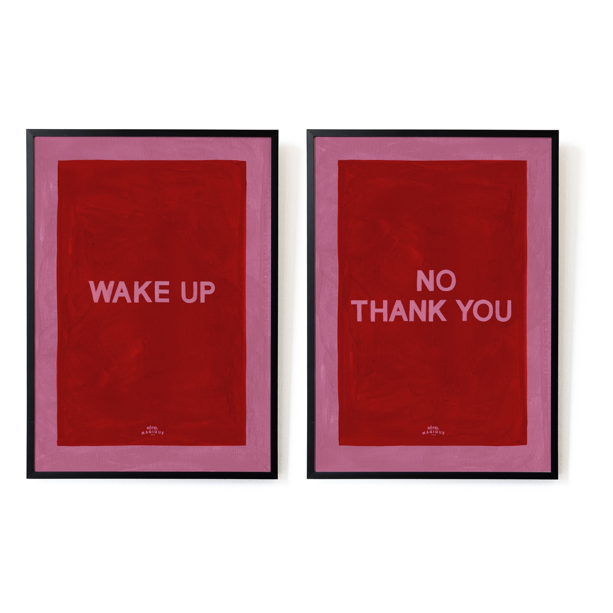 Angebot: Poster A4 Wake up No, Thank you