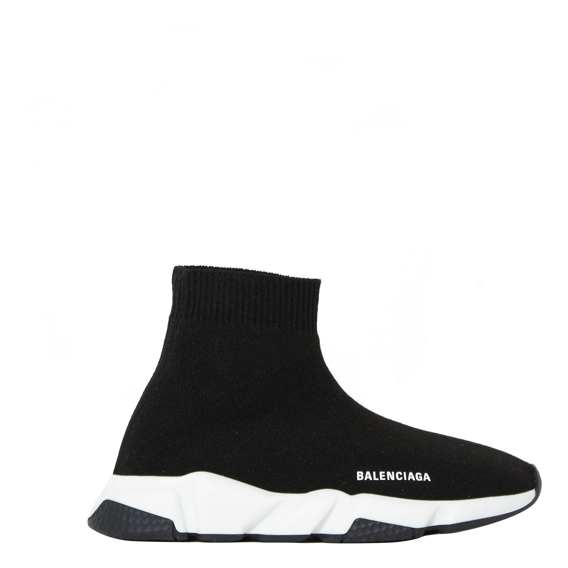 Speed Trainer with Two Tone Sole Black Balenciaga Shoes Children
