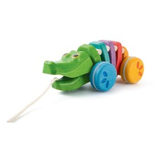 product-Plan Toys Rainbow Alligator Pull Toy