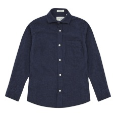 product-Hartford Stormy Snap-Button Flannel Shirt