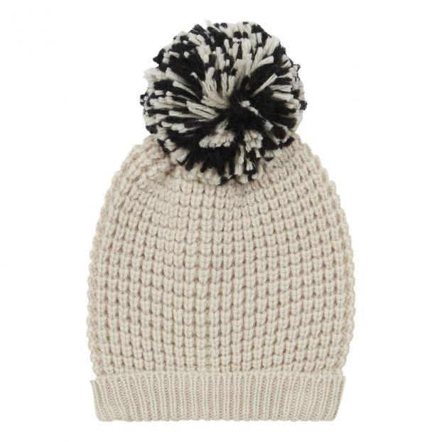 79a4e49ff Alpine Pompom Beanie Hat Ecru