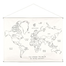 product-Numero 74 World Map DIY Poster Embroidery Kit