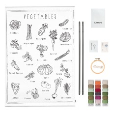 product-Numero 74 Vegetables DIY Poster Embroidery Kit